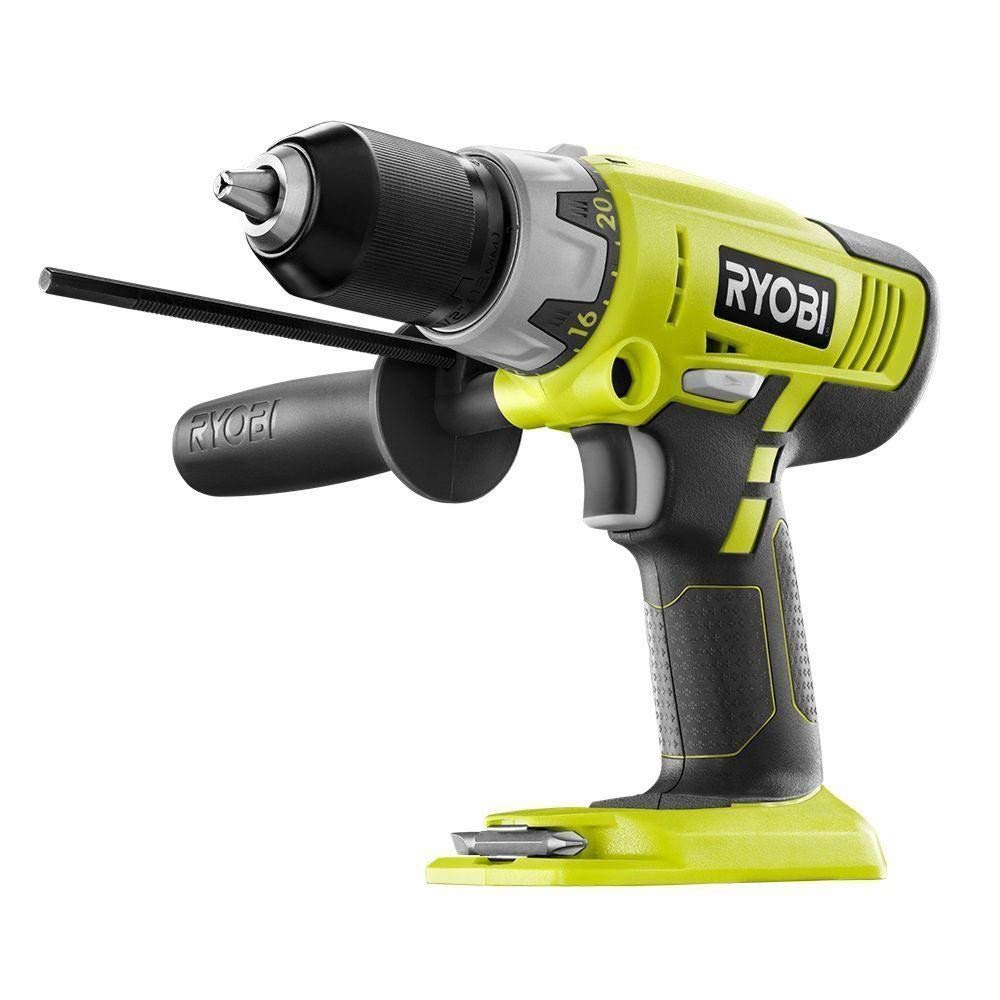 Ryobi ZRP213 ONE Plus 18V Cordless 2-Speed Hammer Drill Green Bare Tool Renewed