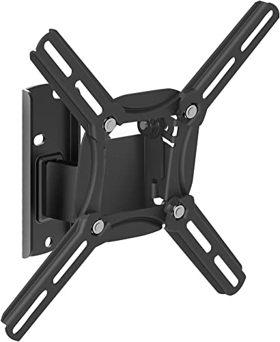 Barkan TV Wall Mount, 13 – 43 inch Swivel and Tilt, Flat Curved Screen Bracket, Holds up to 55 lbs, Patented, Lifetime Limited Warranty, Fits LED OLED LCD