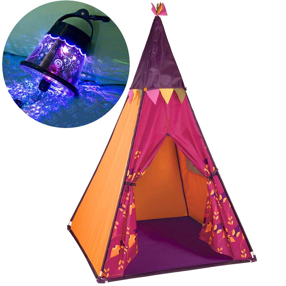 Mogicry Toy Room Teepee Indian Raspberry Child Tent Baby Indian 男女兼用 Indoor Outdoor Household Game House Princess Room Decoration PVCホース コットンキャンバス Teepee 男女兼用 3+(100100140CM) B07NPPKL92, FLORA(フローラ):dfb0c575 --- forums.joybit.com