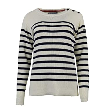 eaad72d8495 Hublot Pull Andromède - Ecru Marine - Femme  Amazon.fr  Vêtements et ...