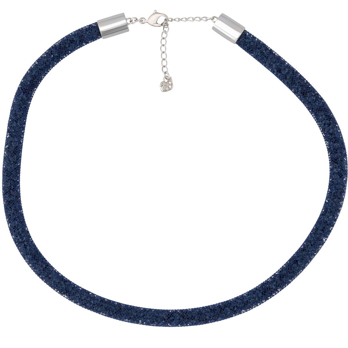 f382564c7f4d Amazon.com  Swarovski Stardust 5127503 Fishnet Tube w  Blue Crystals Collar  Necklace  Jewelry