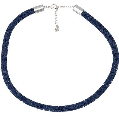 a06c127aeb6 Amazon.com  Swarovski Stardust 5127503 Fishnet Tube w  Blue Crystals ...