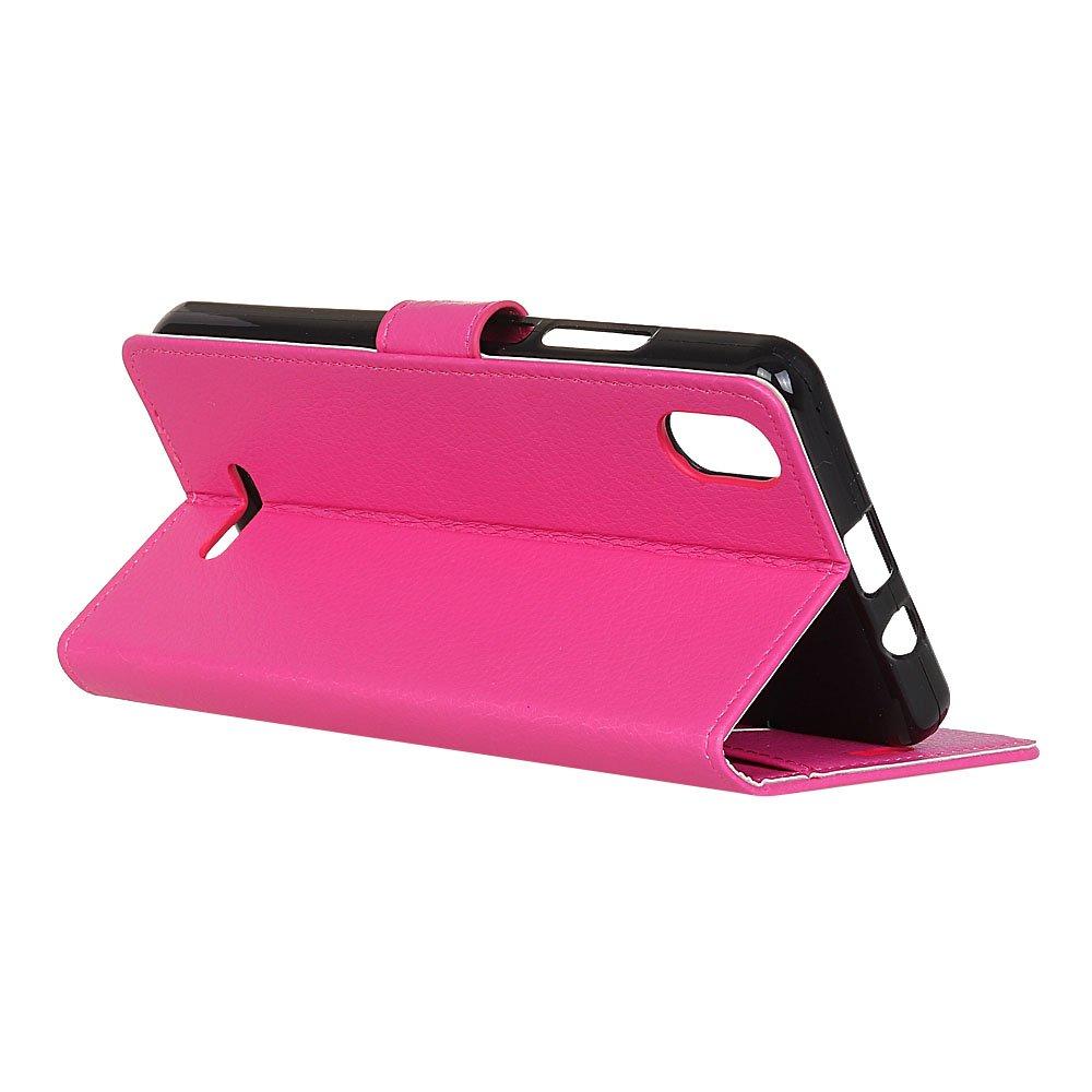 MSOSA Compatible con Funda Wiko Y60,Carcasa Libro de Cuero con Tapa y Cartera,Soporte Plegable,Carcasa PU Leather con TPU Silicona Case Interna Suave/_Azul