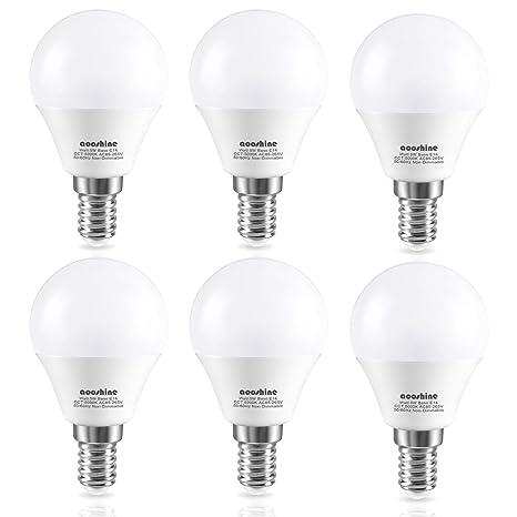 Aooshine E14 - Bombilla de luz LED Edison pequeña (5 W, equivalente a bombillas
