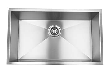 Blue Ocean 32u0026quot; KSR105 16 Gauge Stainless Steel Undermount Kitchen Sink  With FREE Grid And