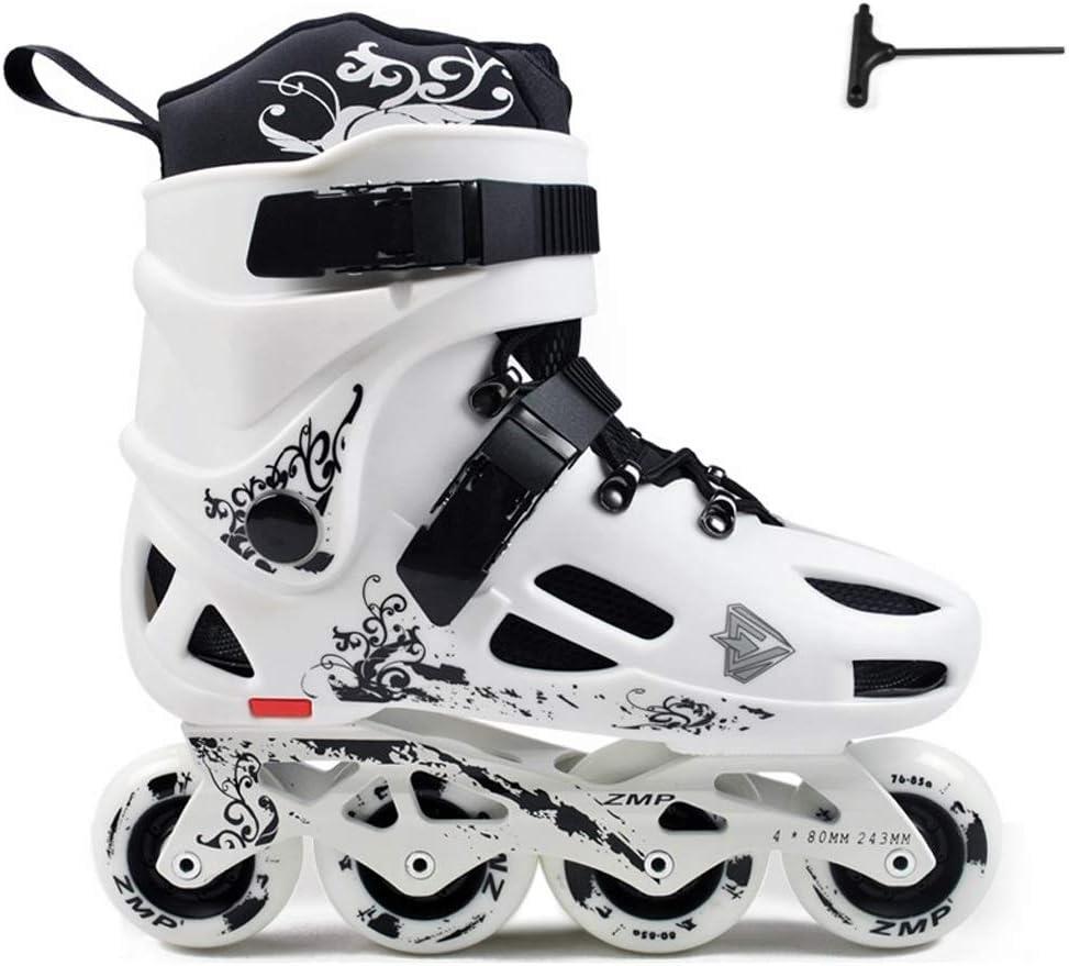 TKW アウトドアローラーシューズ、男性女性通気性の快適なローラースケート、初心者スケート靴、ブラックホワイト (Color : 白い, Size : EU 41/US 8/UK 7/JP 25.5cm) 白い EU 41/US 8/UK 7/JP 25.5cm
