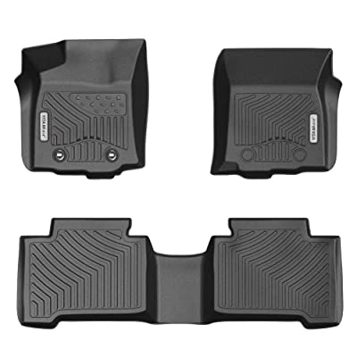 YITAMOTOR Floor Mats for Tacoma, Custom fit Floor Liners for 2016-2020 Toyota Tacoma Double Cab, 1st and 2nd Row Heavy Duty Rubber: Automotive