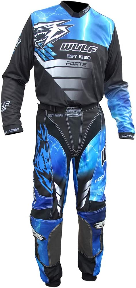 Wulfsport 2020 Forte Adult Motorbike Sport Suit Motorcycle Motorcross Racing Shirts Trousers Red Pants 30inch Waist