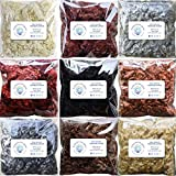 Real Mohair Wool Locks, Organic Hand Dyed Fiber for Felting, Blending, Spinning, Knitting, Doll Hair and Embellishments. 9 Ounce, Includes 9 Colors