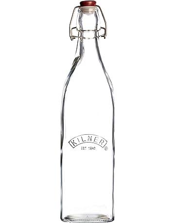 Kilner Vintage Clip Top Botella, vidrio, Transparente, 8.1999999999999993 x 8.1999999999999993 x 31.8 cm