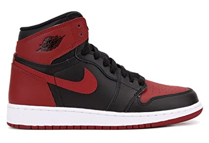 sports shoes f0ce6 5193b Air Jordan 1 Retro OG 'Banned' 575441 001 (Black/Varsity Red-White) (6Y)