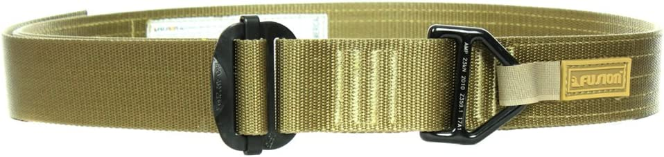 """Fusion Tactical Military Police Riggers Belt Type D Coyote Brown Large 38-43""""/1.75"""" Wide"""