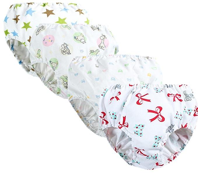 adiasen Little Girls 4 Packs Comfortable Cute Cotton Underwear Boxer Hipster Knickers Briefs