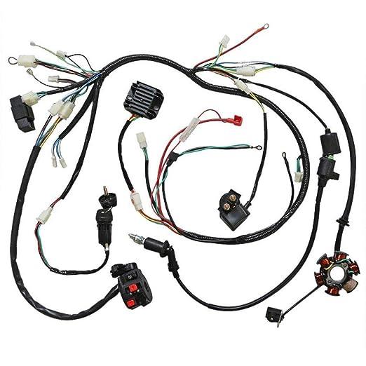 Amazon Com Jcmoto Wiring Harness Loom Kit Cdi Rectifier Key