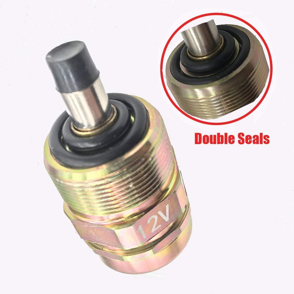 kmsensor brand 12V 0330001015 Diesel Fuel Shut Off Solenoid Valve 146650-0720 fit for VE Pump Dodge Cummins 5.9L 1988-1993