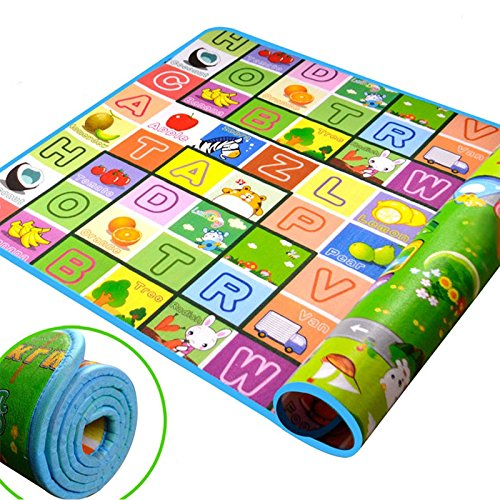 Luckcart 200*180*0.5cm Thickness Baby Crawling Mat Baby Craw