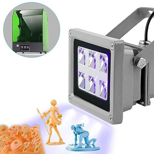 Impresora 3D LED de resina de curado UV luz, TOPQSC Resina UV de ...