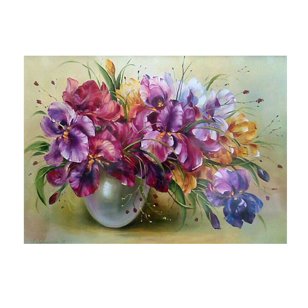 DIY 5D Diamond Painting by Number Kits Full Drill Rhinestone Embroidery Cross Stitch Pictures Arts Craft for Home Wall Decor,Colored Orchid - 11.8x15.7 inches MXJSUA 4336932688