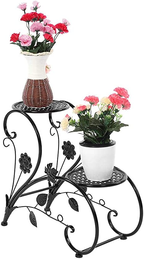 4 Niveaux 2//4 Couches /Étag/ère /à Fleurs Porte Pots de Plante Fleurs Pr/ésentoire de Jardin Balcon Terrasse Zoternen Support de Pot de Fleurs Facile /à Installer