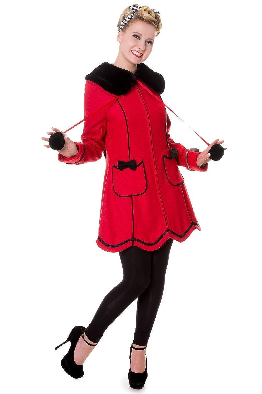 Banned Bows Vintage Coat - Black or Red