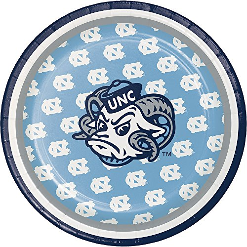 Creative Converting North Carolina Tar Heels Dessert Paper Plates, 8-Count