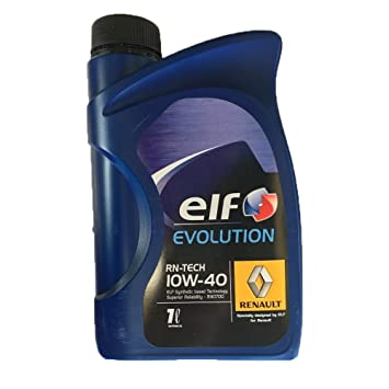 Aceite Elf Evolution 10 W 40 rn-tech Renault 1 litro: Amazon.es: Coche y moto