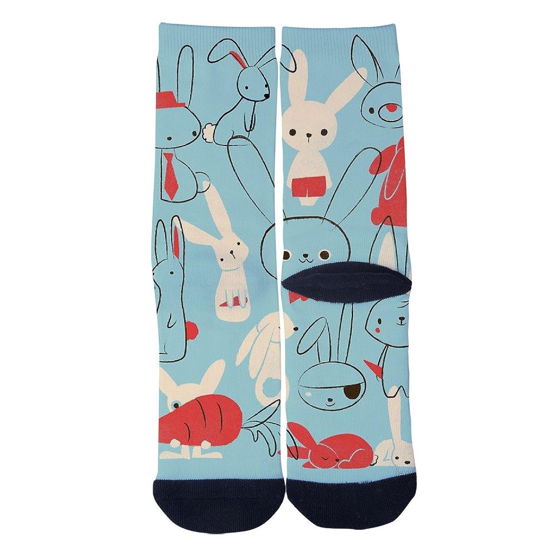 Cheap EveninSky Men's Women's Custom Cute Bunnies Creative Casual Crew Socks free shipping