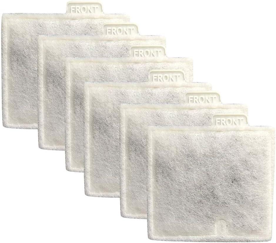 Naliovker 6 cartucce Filtro Acquario Medio per Carbone per ricambi Aqueon QuietFlow Power 10