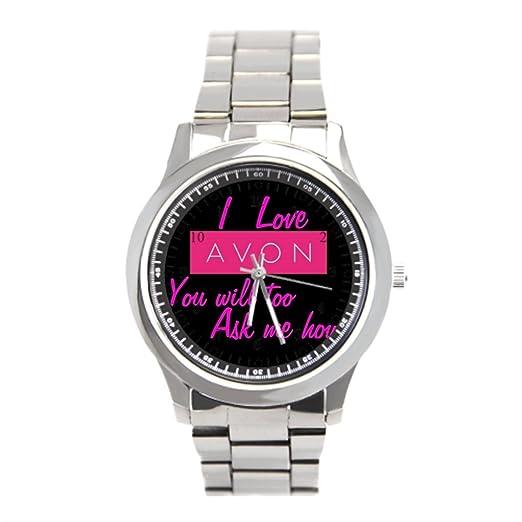Para hombre muñeca reloj Avon para hombre inoxidable Relojes: Amazon.es: Relojes