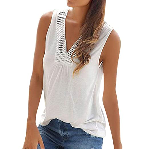 8c8fa53a8 Lavany Tank Tops for Women Lace Foral V Neck Tops Sleeveless T Shirts for  Women at Amazon Women's Clothing store: