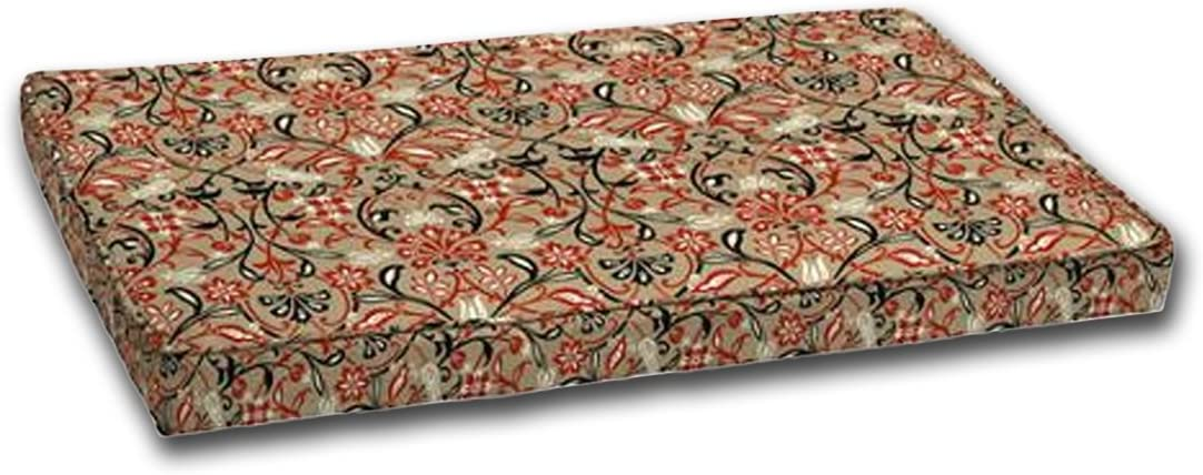 Comfort Classics Inc. Outdoor Loveseat Cushion 24×45.5×4, Box Edge and Single Welt. Zipper. Polyester Fabric in Tulip Scroll