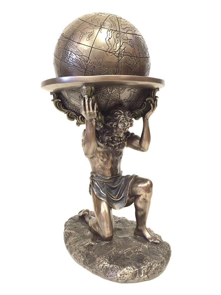 Greek Titan Atlas Carrying the World Statue (Bronze)