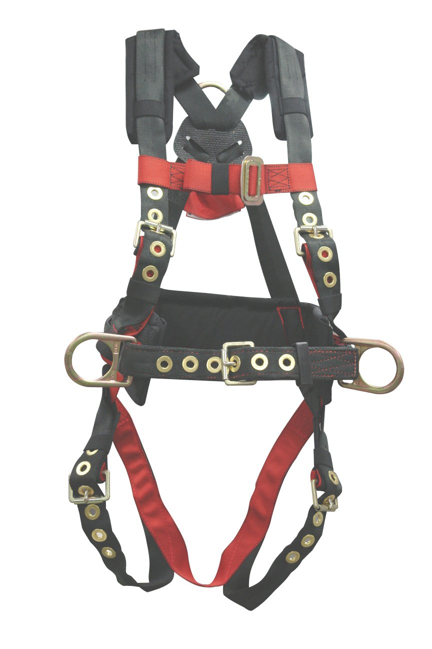 Elk River 65322 Iron Eagle Polyester/Nylon 3 D-Ring Harness with Tongue Buckles, Medium