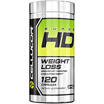Cellucor SuperHD Thermogenic Fat Burner Weight Loss Supplement For Men U0026  Women, 120 Capsules