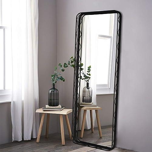 VVK Black Floor Mirror Full Length Body Metal Frame Mirror