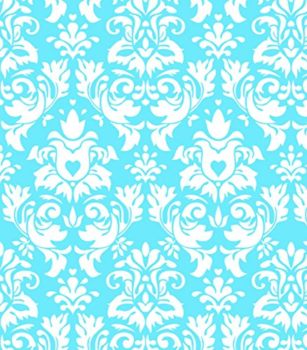 (Knit Damask Cote D'Azur Design Fabric By the Yard, 95% Cotton, 5% Lycra, 60 Inches Wide, Excellent Quality, Medium weight, 4 way stretch (2)