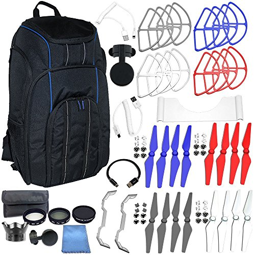 EVERYTHING YOU NEED ACCESSORY BUNDLE FOR DJI PHANTOM 4 – Includes + Backpack Pro II for All DJI Phantom Quadcopters + MORE by SSE