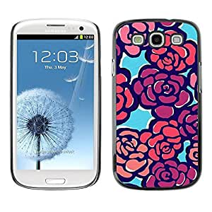 Best-Diy LASTONE cell phone case cover / Slim Protector case cover case cover for Samsung Galaxy S3 I9300 8IO2Hq9plck / Painting Pattern Spring Purple