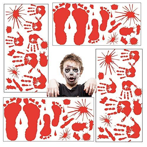 Youyouchard 4 Sheets Stickers|Halloween Decorations|Halloween Vampire Zombie Party