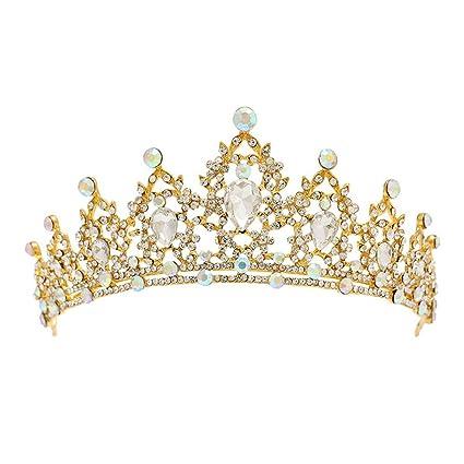 AdorabFitting Diadema corona coroncina cerchietto Tiara Accessori per  matrimoni da sposa con strass brillanti in argento b2a5f10e4f6d