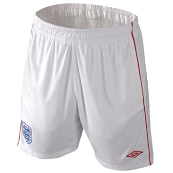 dfdb8def4 Umbro England Football Shorts Mens White/Red Football Soccer Short XLarge