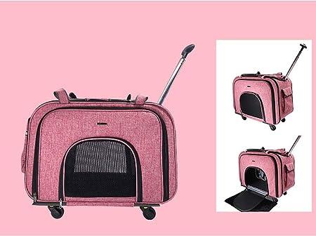 ZBBY Trolley para Mascotas Estuche portátil para Trolley Bolsa para Mascotas Suministros Bolsa para Mascotas Estera para Auto Asiento de automóvil Mute Rueda Malla de Seguridad: Amazon.es: Hogar
