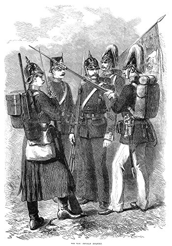 Prussian Infantry 1870 Nprussian Infantry Soldiers From The Franco-Prussian War Wood Engraving From An English Newspaper Of 1870 Poster Print by (18 x 24)
