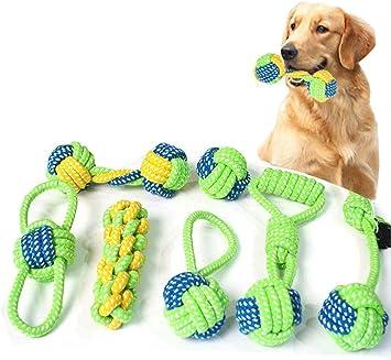 Hundespielzeug Kauen Seil Ball Spielzeug Set Welpen Zähne Reinigung Training Für Kleine Welpen Und Mittelgroße Hunde Aggressive Kauen Schleifen Zähne Hundetraining Spielen Spielzeug Mit Griff Knoten Haustier