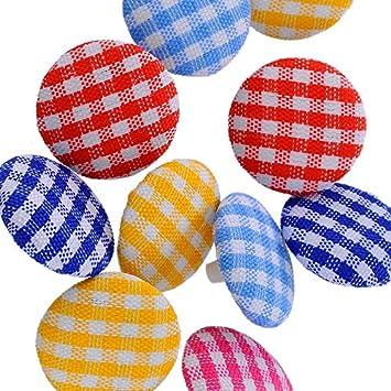 100 unds botones tela cuadros vichy colores retros muy originales para cocina cojines bolsa playa,