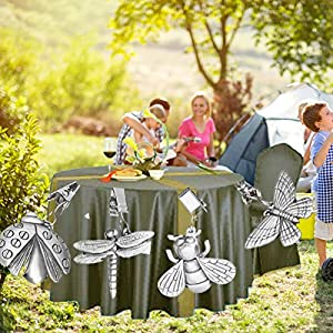 Metal Tablecloth Weights Winfashions Heavy Duty Butterfly Table Clip Clamps For Outdoor Garden Party Picnic Tables (4 Pack)