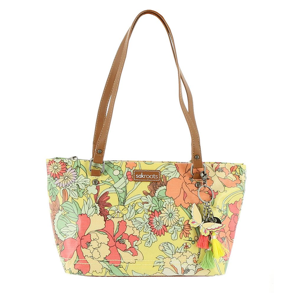 Sakroots Small Satchel, Sunlight Flower Power
