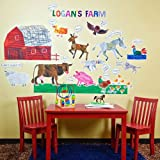 Oopsy daisy Eric Carle, 's Farm Peel and Place Childrens Wall Decals by Eric Carle, 54 by 60-Inch