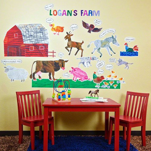 Oopsy daisy Eric Carle, 's Farm Peel and Place Childrens Wall Decals by Eric Carle, 54 by 60-Inch by Oopsy Daisy