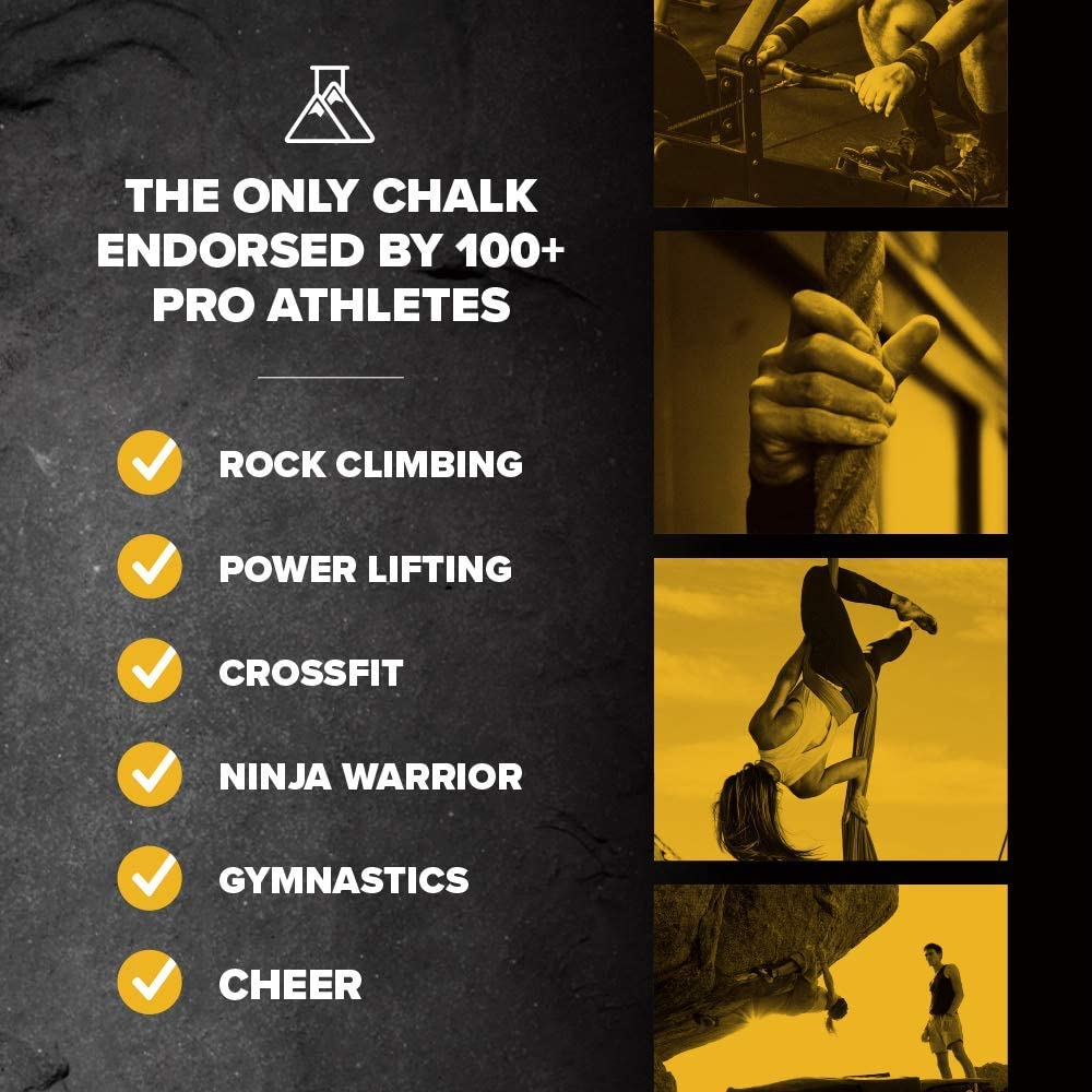 The Only Chalk Endorsed by 100+ Pro Athletes Weight Lifting /& Gymnastics FrictionLabs Sports /& Gym Chalk The New Standard in Grip Performance for Rock Climbing